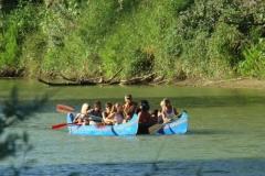In canoa sull'Ombrone