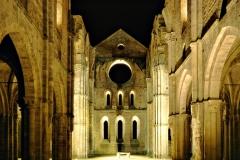 Vista dell'abbazia di San Galgano